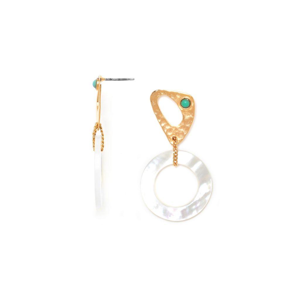 INES 2-elements post earrings