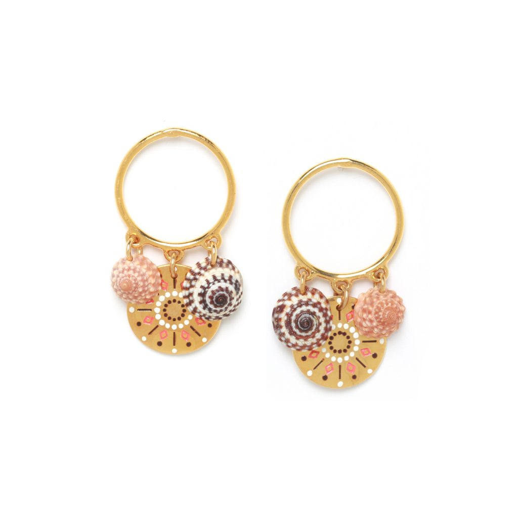 TAMARA 3 dangles ring post earrings