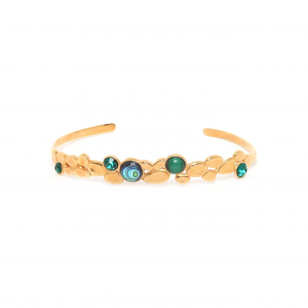 BECKY cuff bangle (green)