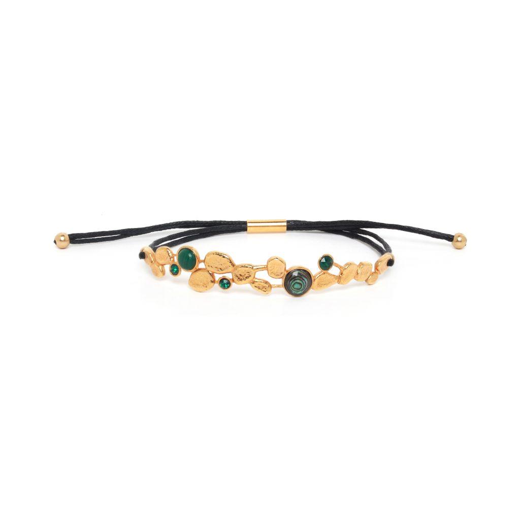 BECKY tube lock bracelet( green)