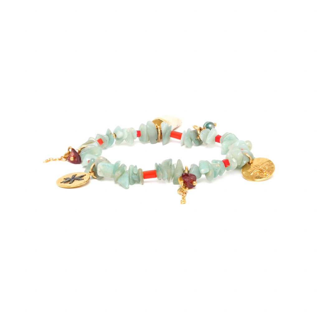 TIWA amazonite stretch bracelet