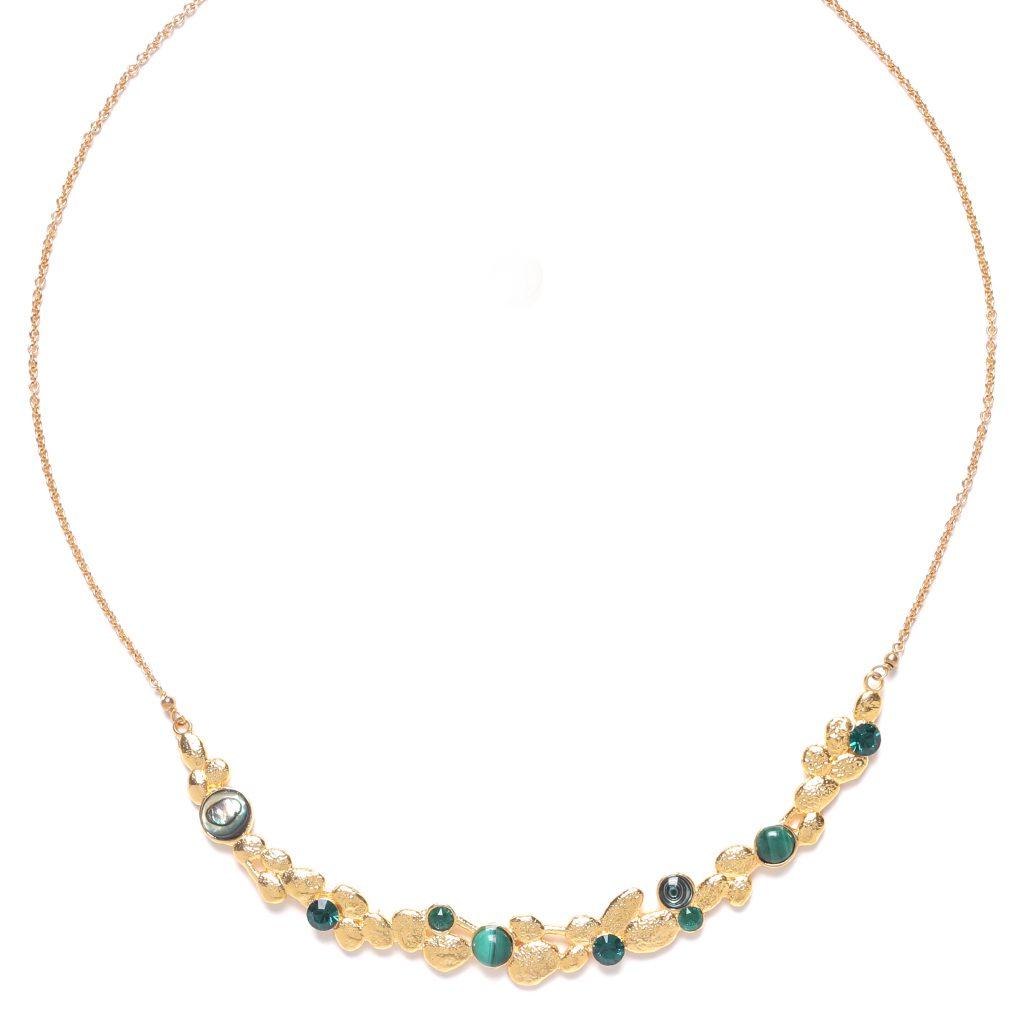 BECKY arc short necklace (green)