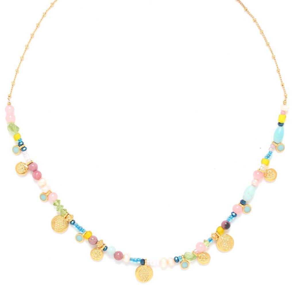CAMILY multi-dangle metal necklace